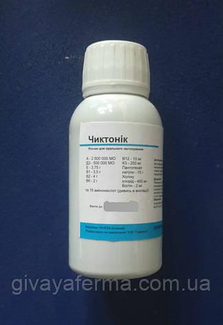Чиктоник (Invesa Испания) 100 мл, добавка витаминная, комплекс витамин и аминокислот для с/х животных и птиц, фото 2