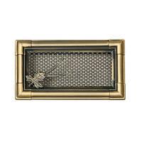 Вентиляционная каминная решетка Retro - золотая патина