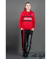 Женский спортивный костюм Перфект красный  Olis-Style 46-52 размеры