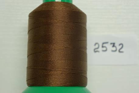 Нитка №40 (1000 м.) «Титан» колір  2532 коричневий, фото 2