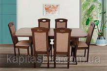 Стол обеденный Мартин (темн.орех, беж., белый)