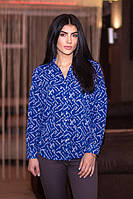 Стильная женская блуза - рубашка с длинным рукавом