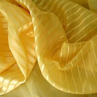 """Вуаль полоса """"Мулен Руж"""" Турция желтый в. 300 см с утяж."""