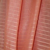 "Вуаль полоса ""Мулен Руж"" Турция бледно-розовый  в. 300 см с утяж."