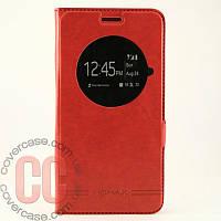 Чехол-книжка с окошками для Asus ZenFone 5 Go (красный)