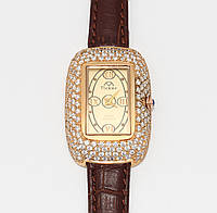 Позолоченные женские серебряные часы 5207-З
