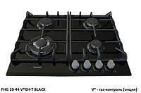Поверхность встраиваемая черное стекло Fabiano FHG 10-44 VGH-T Black Glass