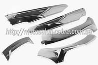 "Пластик   Zongshen F1, F50   нижний пара (лыжи)   (серый)   ""KOMATCU"""