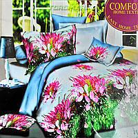 """Полуторный комплект постельного белья Lux Comfort - прост.160 х 220, - под. 150 х 210 """"Букет"""""""