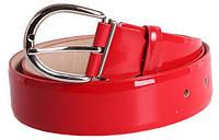 Лаковый красный женский ремень Dori red107 ДхШ: 120х4 см