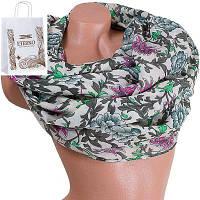 Женский хлопковый шарф 179 на 88 см  eterno (ЭТЕРНО) es0908-10-2