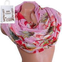 Женский хлопковый шарф 182 на 90 см  eterno (ЭТЕРНО) es0908-9-3