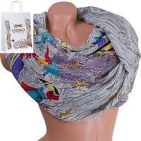 Женский хлопковый шарф 185 на 87 см  eterno (ЭТЕРНО) es0908-1-5