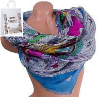 Женский хлопковый шарф 182 на 86 см  eterno (ЭТЕРНО) es0908-1-4