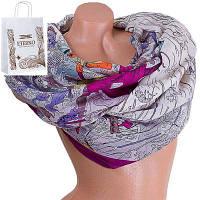 Женский хлопковый шарф 185 на 87 см  eterno (ЭТЕРНО) es0908-1-3