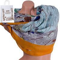Женский хлопковый шарф 183 на 88 см  eterno (ЭТЕРНО) es0908-1-2