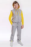 Спортивный костюм для мальчика с жилетом желтый, фото 1