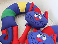 """Подушка под шею"""" Жовто- Блакитный кіт"""""""
