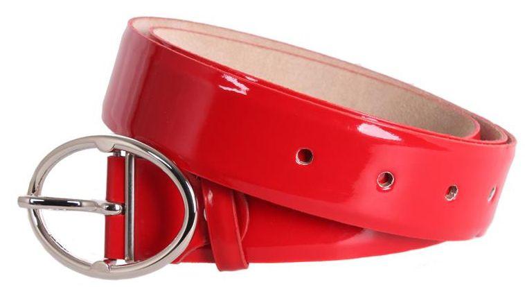 Практичний червоний жіночий ремінь Dori red108 ДхШ: 120х4 см