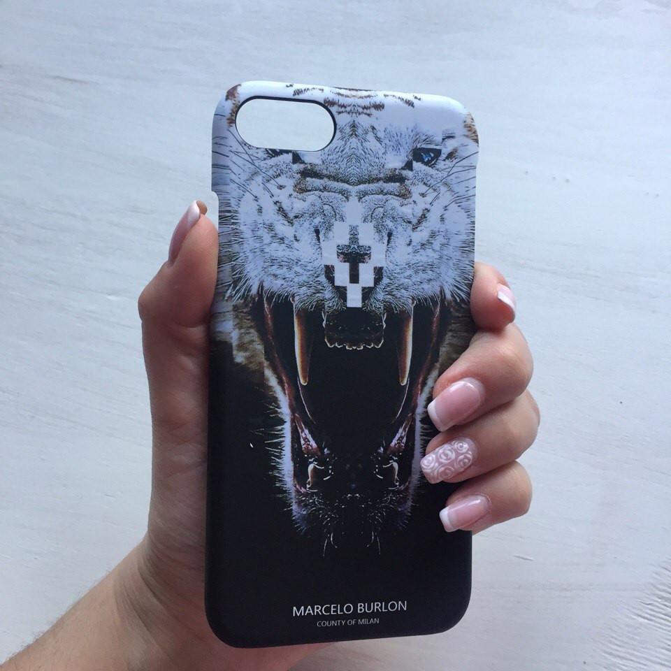 Пластиковый чехол Marcelo Burlon тигр для iPhone 7