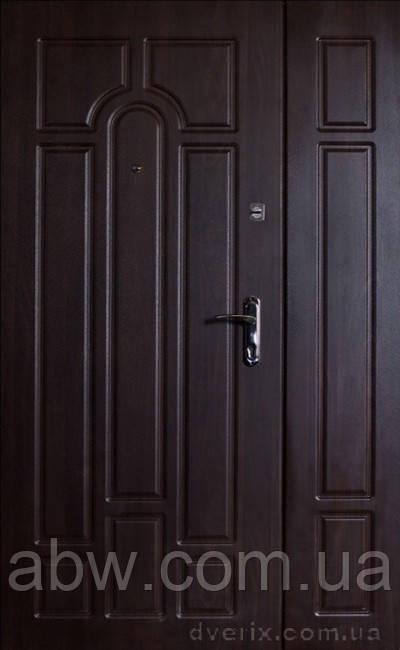 """Двери входные металлические с МДФ (Украина), модель Классик-Арка, ТМ """"ФОРТ"""" ПРЕМИУМ ВИНОРИТ 1200мм"""