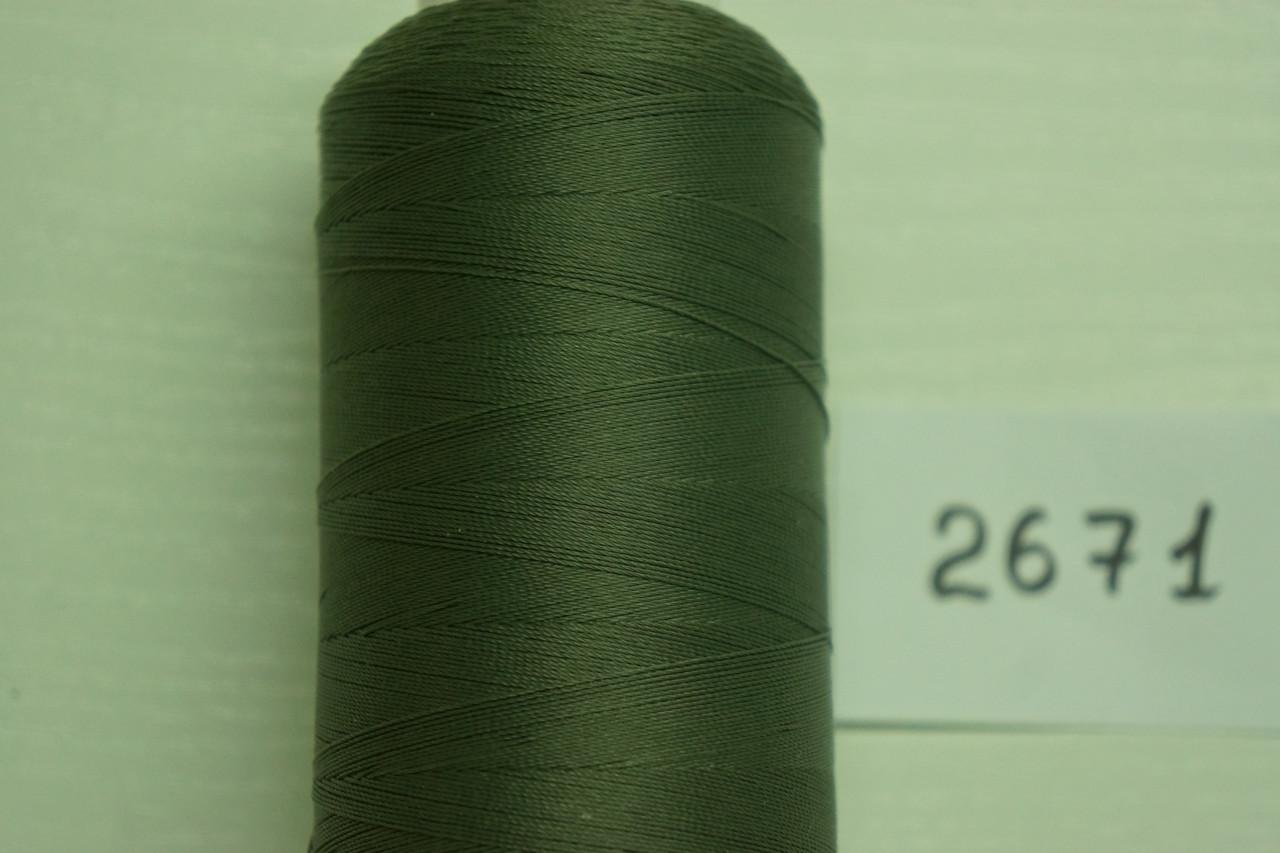 Нитка №40 (1000 м.) «Титан» колір  2671 темнозелений