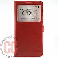 Чехол-книжка с окошками для LG V10 (красный)