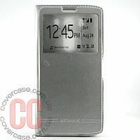 Чехол-книжка с окошками для LG V10 (серебряный)