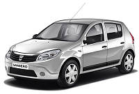 Лобовое стекло Dacia Sandero,Дачиа Сандеро(08-12)