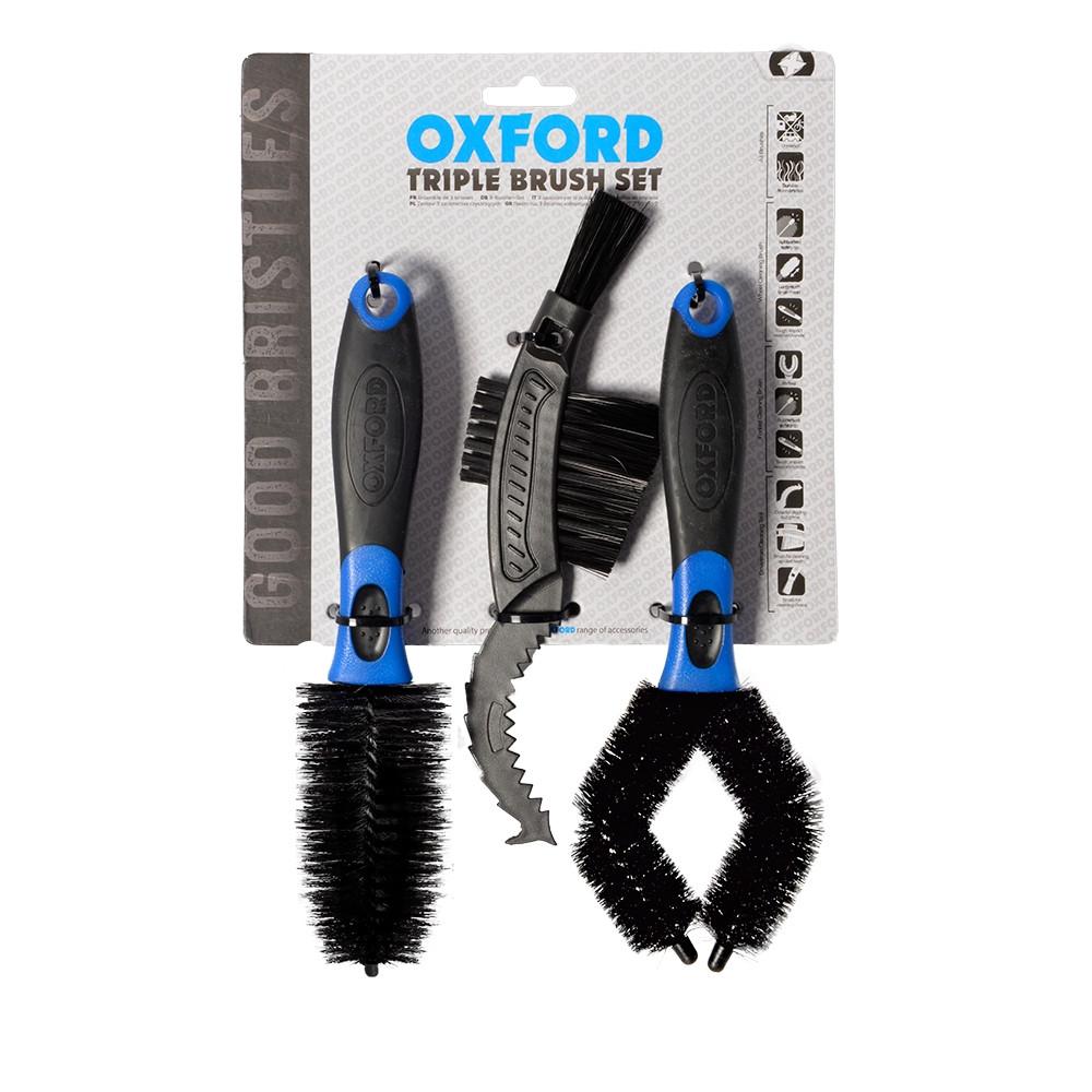 Набор щеток для чистки мотоцикла OXFORD Triple Brush Set OX244