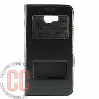 Чехол-книжка с окошками для Huawei Y3-ll (черный)