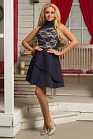 Платье БИМОНД, размер M, L, XL вечернее нарядное гипюровое женское летнее красное синее черное бежевое
