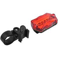 Велосипедная фара 198: 5 LED диодов, работа 100% и 6 режимов мигания, 68х38х30 мм, кронштейн
