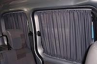 Шторы. Автомобильные шторки для микроавтобуса  Peugeot Partner серые