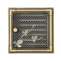 Вентиляционная каминная решетка Retro с жалюзи, золотая патина
