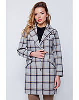 Пальто-пиджак в светлую клетку