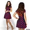 Платье 15321 (Красный принт)