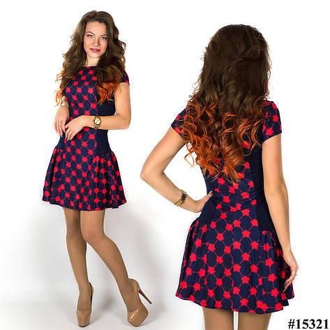 Платье 15321 (Красный принт), фото 2