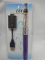 Электронная сигарета eGo CE6 Фиолетовая + Жидкость 10мл