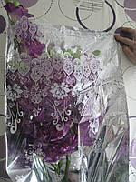 Пакет для букета цветов целлофановый, металл+рисунок 95 х 50 см 20 шт.