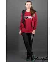 Женский спортивный костюм Арти бордо Olis-Style 46-52 размеры