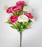 Букет искусственных цветов  Роза чайная (микс цветов) , 50 см, фото 1