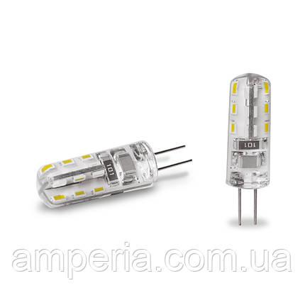 EUROLAMP LED Лампа G4 силикон 2W 3000K 12V (LED-G4-0227(12)), фото 2
