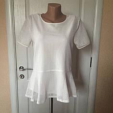 Женская футболка  короткий рукав белая  VERO MODA