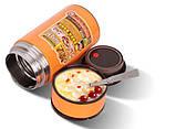 Термос для еды с контейнером и ложкой 1600 мл., вакуумный пищевой термос , фото 2