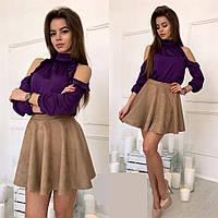 Стильная короткая пышная юбка В10796, фото 1