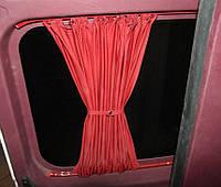 Автомобильные шторки Peugeot Partner/Citroen Berlingo красные с 2008г
