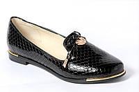 Туфли из натуральной лаковой кожи - рептилия