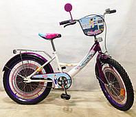 Велосипед двухколёсный  TILLY Стюардеса 20 T-22027 white + dark purple***