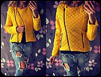 Женская весенняя куртка-косуха из плащевки, в расцветках